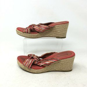 Naturalizer Open Toe Espadrilles Wedge Heel Sandal
